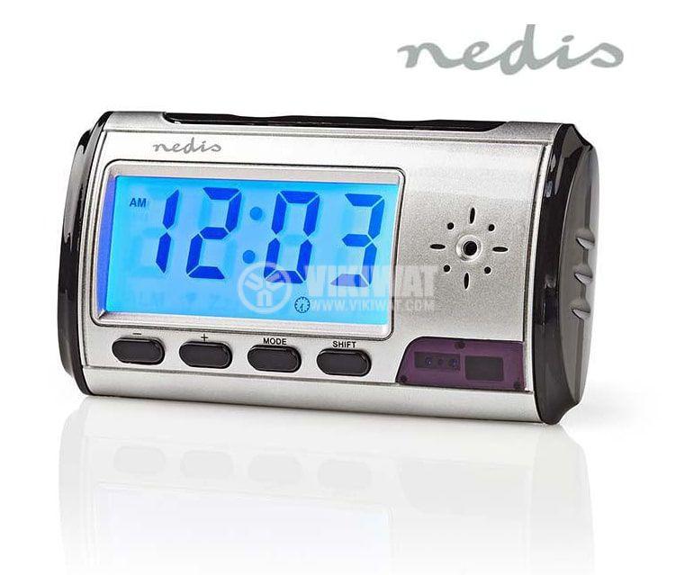 Шпионски часовник със скрита камера и запис, SPYCCL10CSR, 720x480p, micro SD, NEDIS - 1