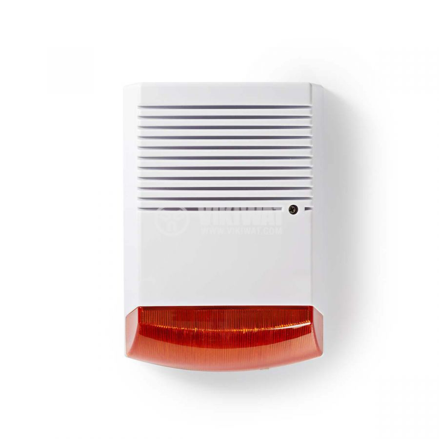 Фалшива аларма за сигурност DUMSS20WT, IP44, бяля/оранжева - 1