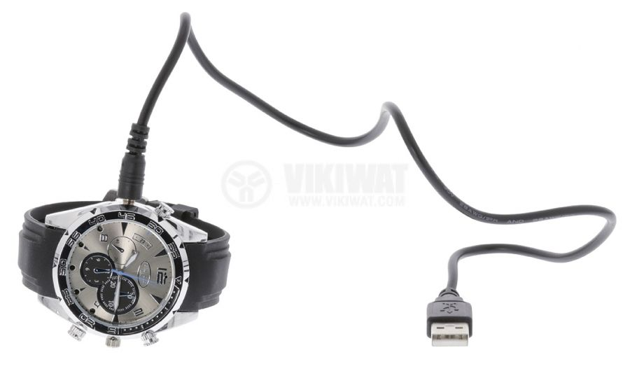 Ръчен часовник с вградена камера, SAS-DVRWW20, USB - 5