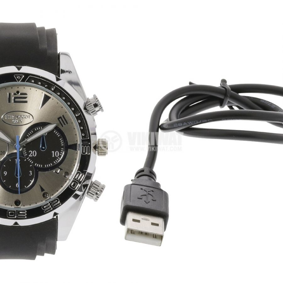 Ръчен часовник с вградена камера, SAS-DVRWW20, 3Mpx, USB - 6