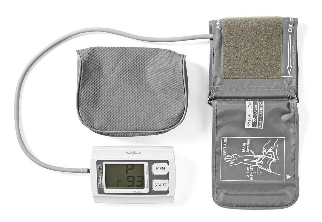 Апарат за измерване на кръвно налягане Nedis BLPR110WT