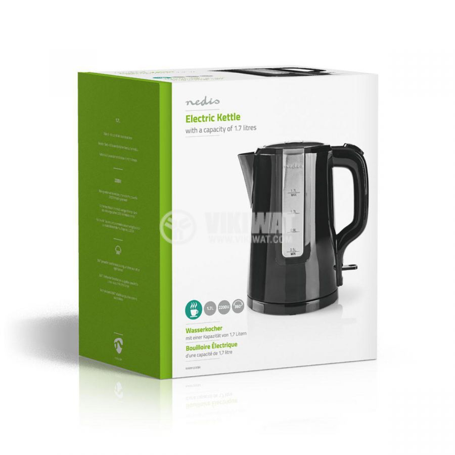 Electric Kettle, 1.7 l, 2200W, 230VAC, black, KN-WK10 - 6