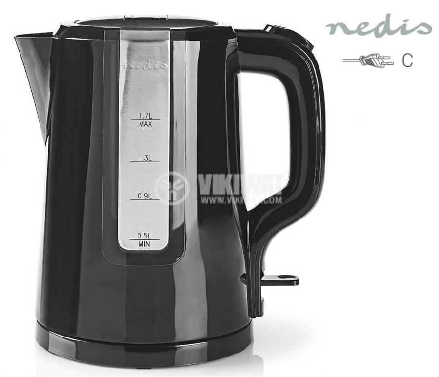 Lightweight electric kettle, 1.7 l, 2200 W, KN-WK10, Nedis - 1
