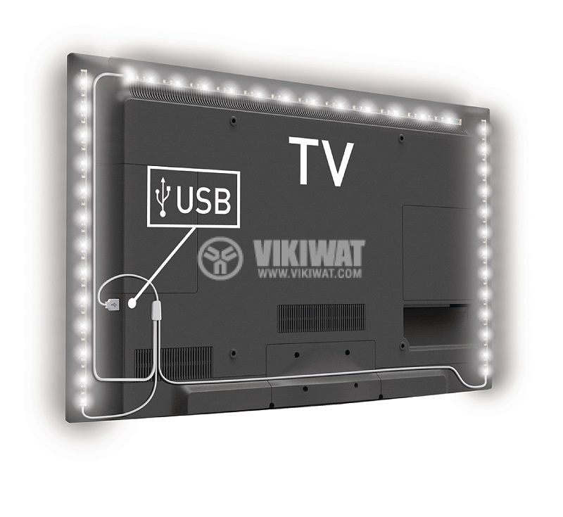 TV Mood Light LED, 1800mm, cool white, KNM-ML3WD - 3