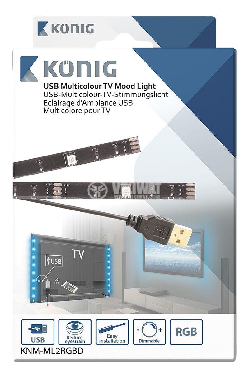 RGB Mood Light LED, 60lm, 1000mm - 3