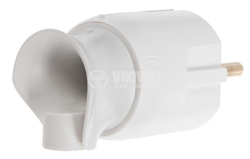 Контакт шуко 230VAC 16A щепсел пластмаса бял - 5