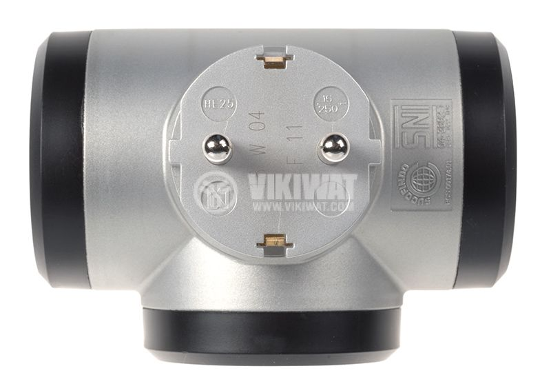 Разклонител за контакт 3-ка LEGRAND 050664 1 шуко към 3 шуко 16A 230V 3680W черен/сив - 2