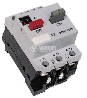 Motor protection circuit breaker (AT00) DZ108-1, three-phase, 8-12.5 A, NO + NC, 6A/380VAC - 1