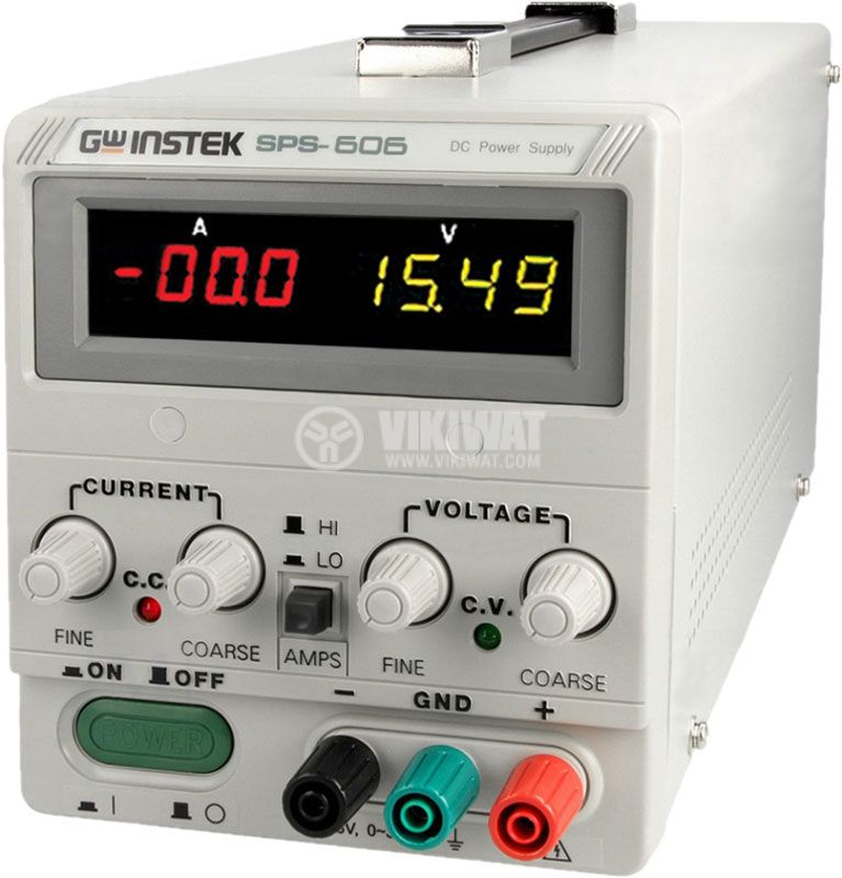 Лабораторно захранване, SPS-606, 6А/60VDC - 1