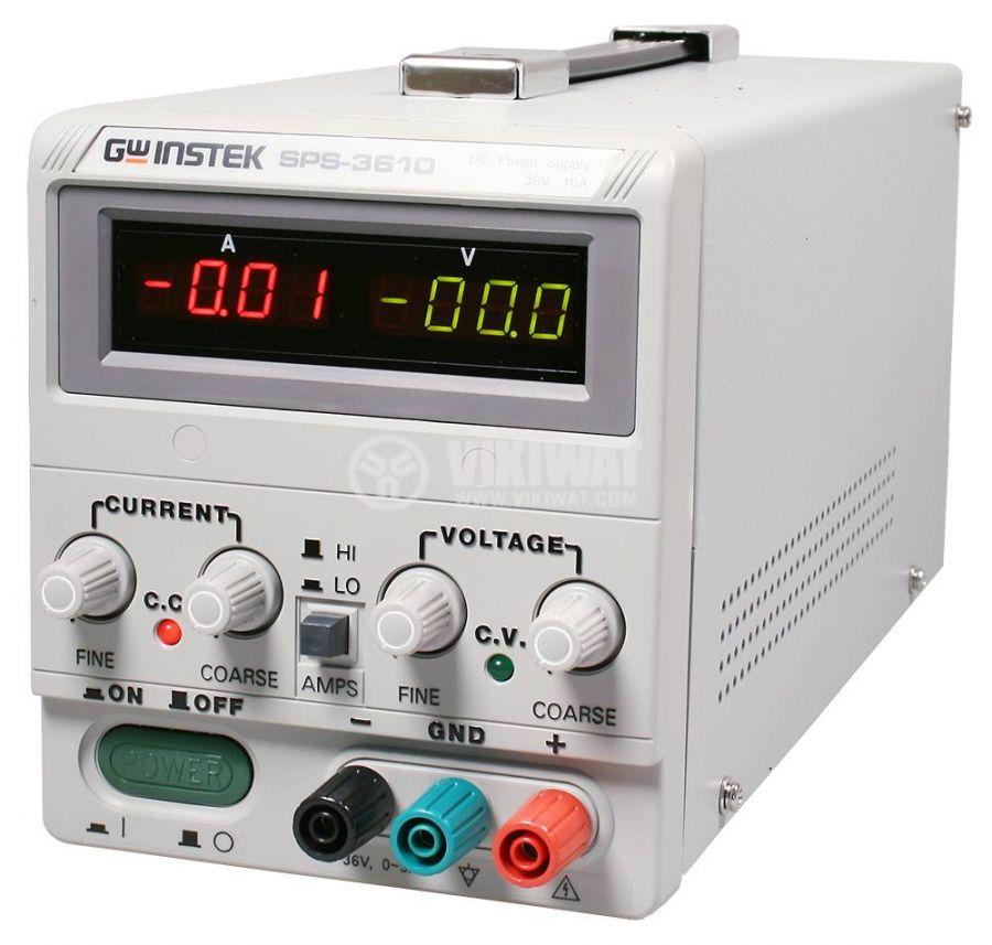 Лабораторно захранване импулсно, SPS-3610, 1 канала, 10A/36VDC