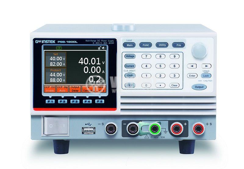 Програмируемо лабораторно захранване, импулсно, PSB-1800M, 1 канал, 20А/160VDC