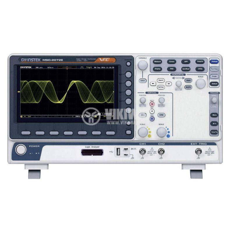 Цифров осцилоскоп смесени сигнали (MSO), MSO-2072E, 70MHz, 1GSa/s, 2 канала, 10Mpts - 1
