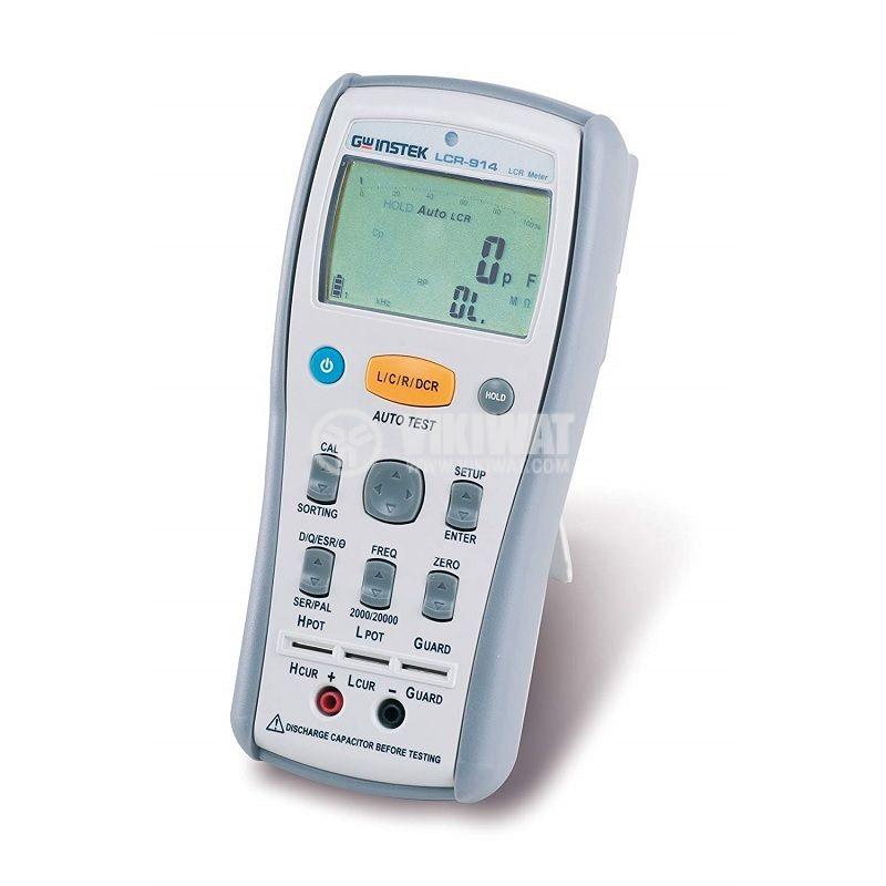 LCR метър LCR-914, 200Mohm, 20mF, 20 kH, 1kHz, LCD