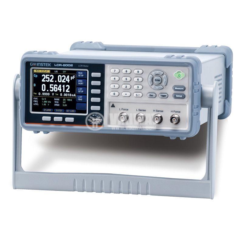 LCR метър, прецизен, LCR-6002, 9999.99mF, 9999.99H, 99.999Mohm, 2kHz - 2