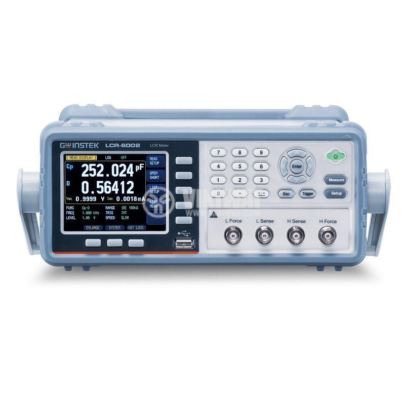 LCR метър, прецизен, LCR-6002, 9999.99mF, 9999.99H, 2kHz - 1