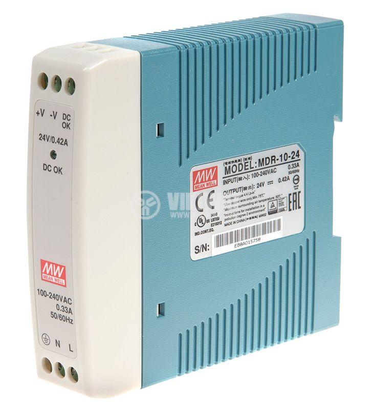 Захранване 0.42A/24VDC, 10W, MDR-10-24  - 1