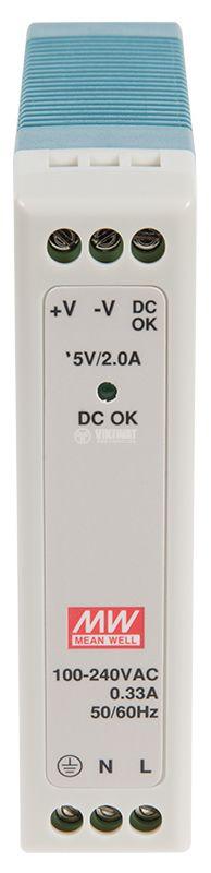 Захранване 2A/5VDC, 10W, MDR-10-5 - 2