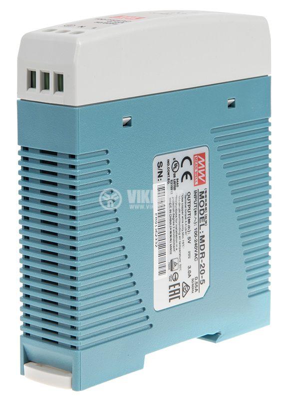 Захранване 3A/5VDC 15W MDR-20-5  - 5