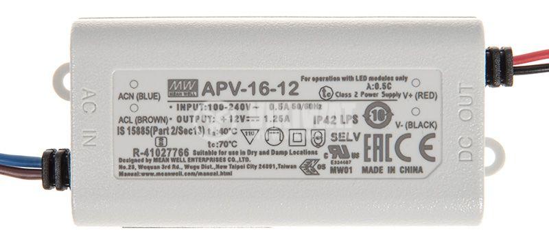 Импулсно захранване 1.25A/12VDC - 2