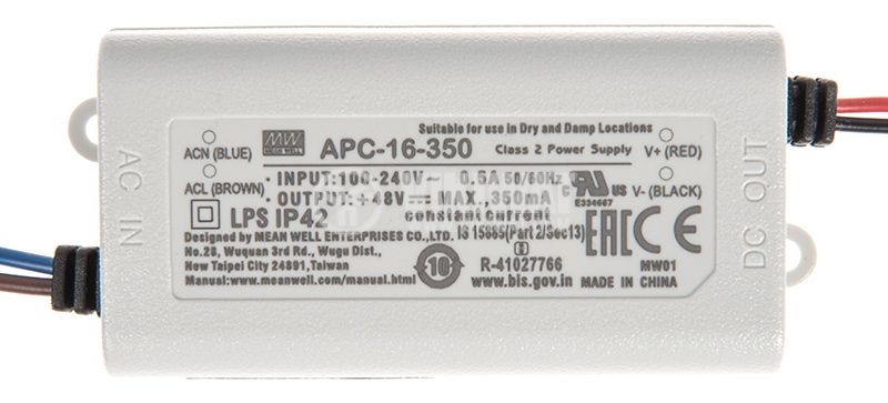 LED токов драйвер 0.35A/12~48VDC - 2