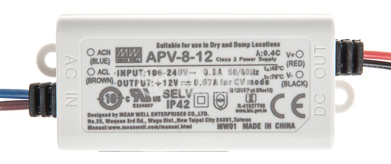 Импулсно захранване 0.67A/12VDC 8W - 2