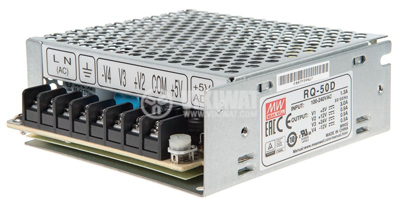 Pulse Power Supply with 3A/5VDC 0.9A/12VDC 0.9A/24VDC 0.5A/-12VDC 53.4W RQ-50D - 1