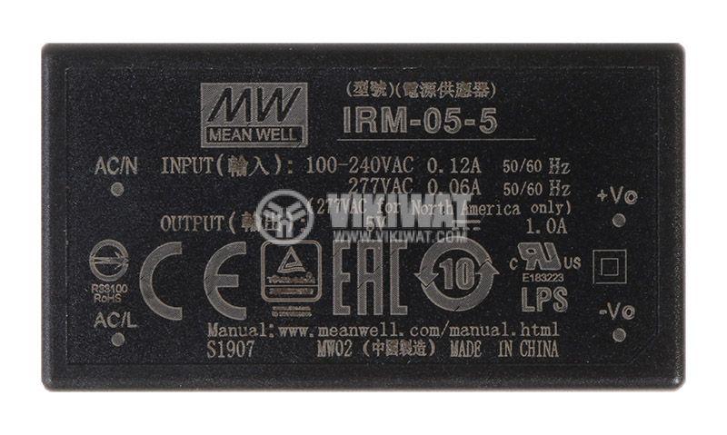 Импулсно захранване 1A/5V 5W IRM-05-5 - 1