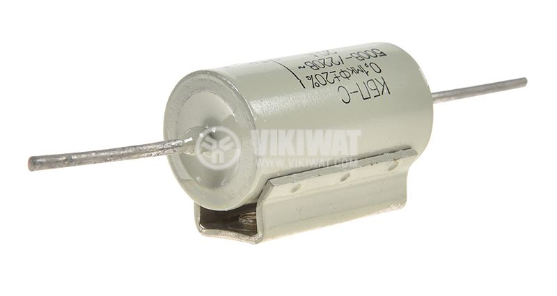 Capacitor filter,  0.1µF,  220VAC,  500VDC,  secure,  axial - 3