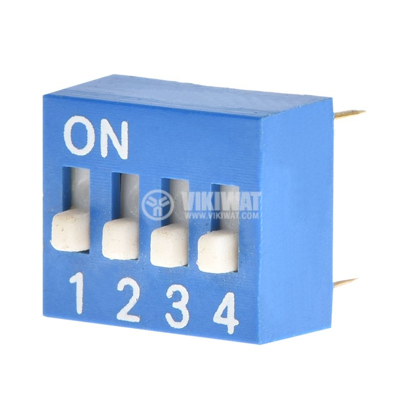 DIP Switch, SPST, 0.1A/24VDC, 11.4x9.8x6.5mm, OFF-ON