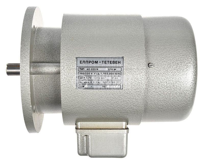 Електродвигател, променливотоков, трифазен, 220-380V, 370W, 1370rpm, AO 022/4 - 2
