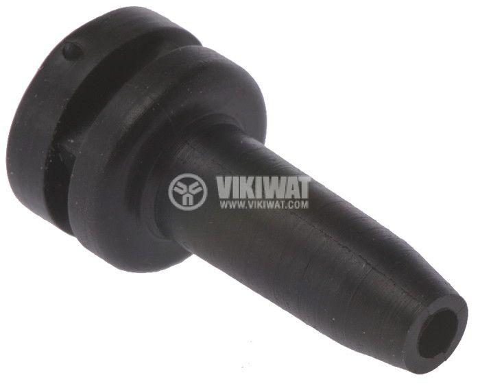 Маншон за кабел HV2104-PVC-BK-M1, ф3mm, черен - 2