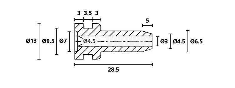 Маншон за кабел HV2104-PVC-BK-M1,черен - 3