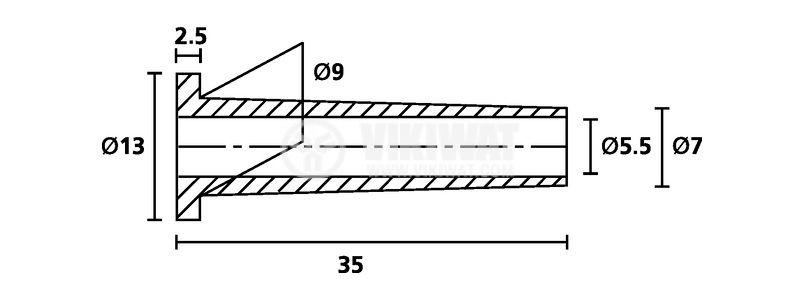 Маншон за кабел HV2101-PVC-FR-BK, ф13x35mm - 2