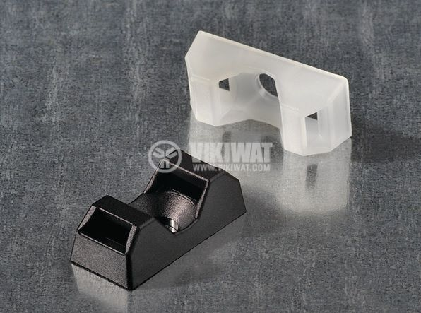 Държач за кабелни превръзки CTQM5-PA66-NA-C1, 6.7x9.5x21mm, с винт, 5mm, объл, HellermannTyton, 151-10920  - 2
