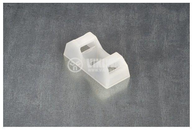 Държач за кабелни превръзки CTQM5-PA66-NA-C1, 6.7x9.5x21mm, с винт, 5mm, объл, HellermannTyton, 151-10920  - 3