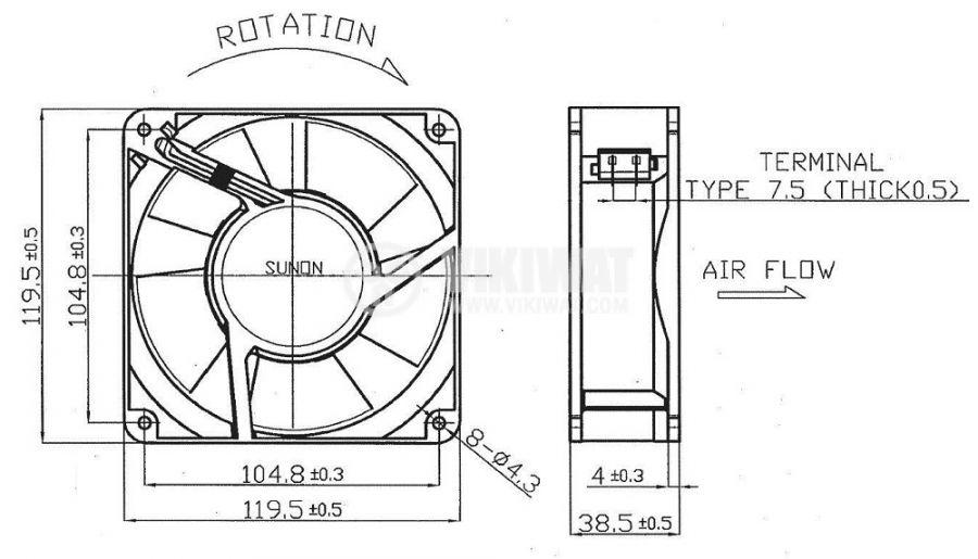 Вентилатор 230V - 3