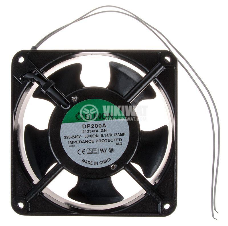 Вентилатор 230V 120x120x38 със сачмен лагер 165m3/h - 1