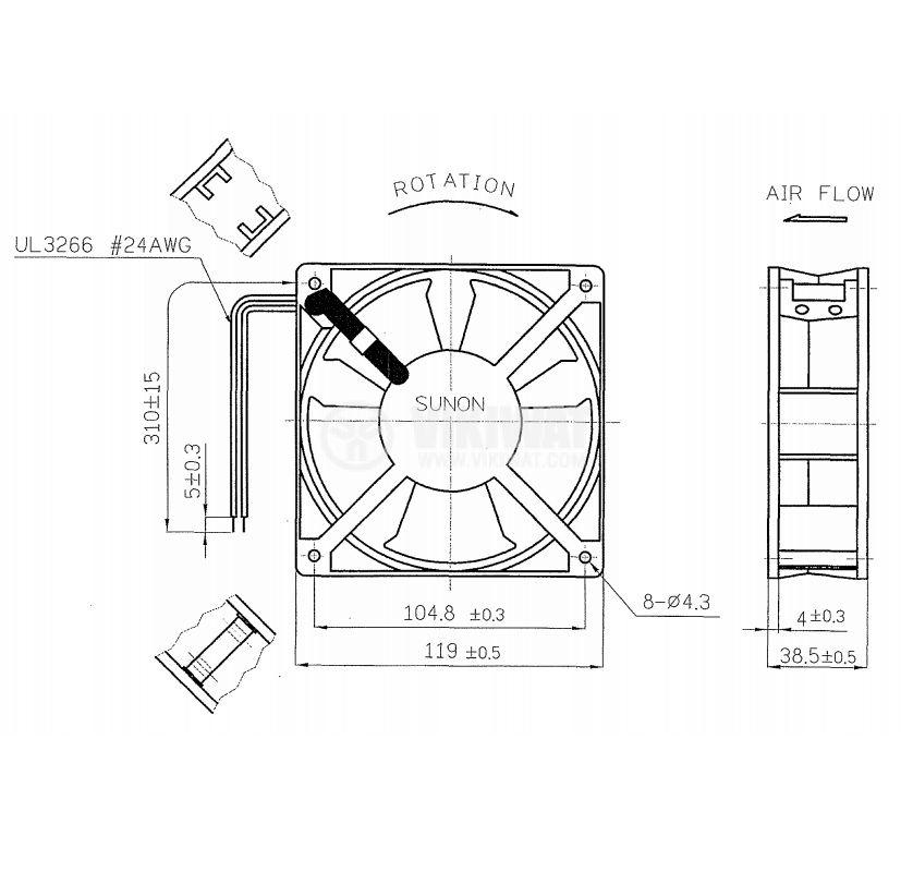 Вентилатор DP200A2123XBL.GN - 3