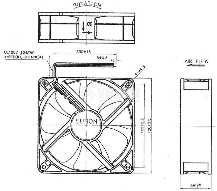 Вентилатор EEC0381B1-000U-A99 - 4