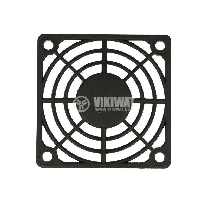 Решетка за вентилатор FB-06, 60x60mm, черна - 1
