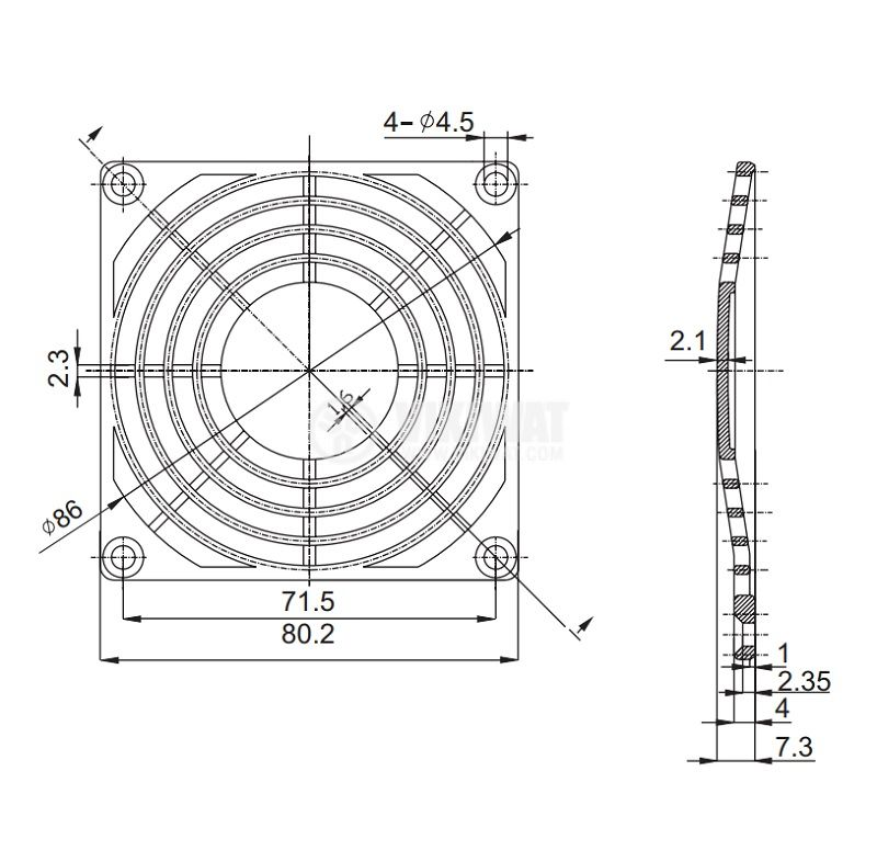 решетка за вентилатор модел FB-08 - 2