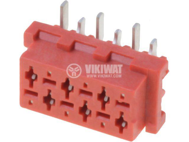 Конектор проводник-платка 6 пина женски SMT
