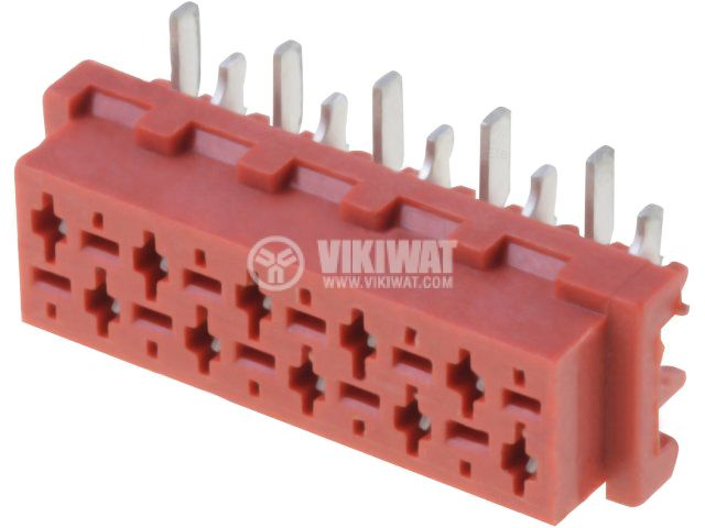 Конектор проводник-платка 10 пина женски SMT