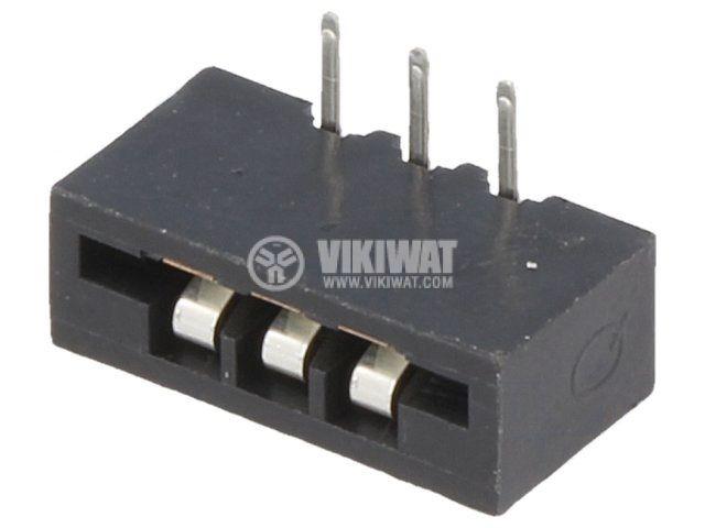 Съединител FFC(FPC) 3 контакта гнездо THT за платка DS1020-03RT1D