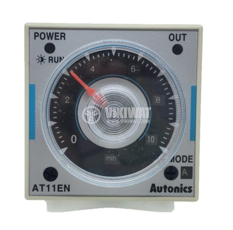 Time relay AT11EN analogue delay on/off 0.05s~100h 250VAC/5A 30VDC/5A 2NO+2NC