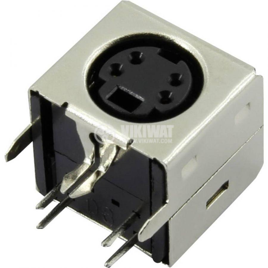 Съединител DS1093-01-BN40 DIN mini гнездо THT за платка 90°