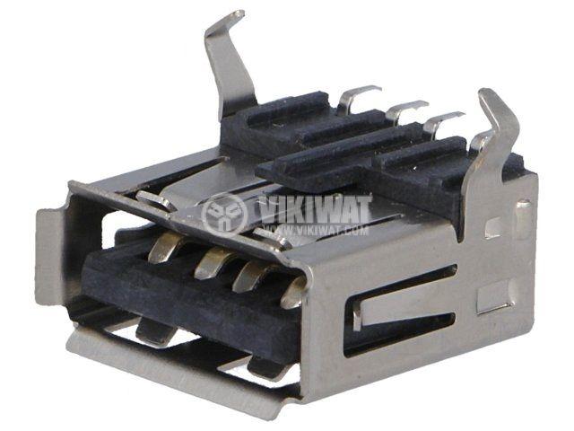 Конектор USB A 2.0 женски SMT - 1