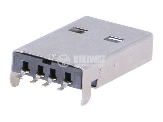 Connector USB A 2.0 male SMT - 2