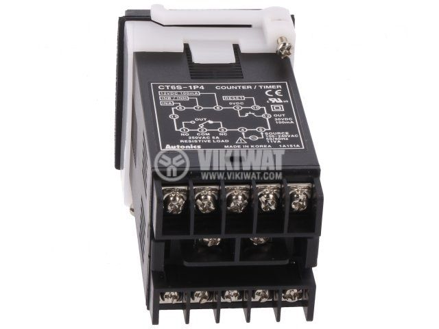 Counter impulse/hours CT6S-1P4, electronic, 100~240VAC, NPN, PNP, from 0.001s to 99999.9h / from 0 to 999999 - 2