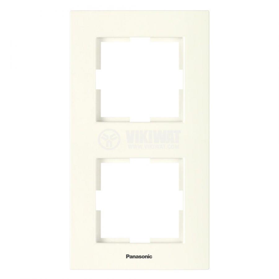 Рамка Karre Plus Panasonic двойна вертикална крем WKTF0812-2BG